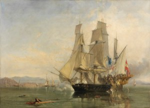 he Action and Capture of the Spanish Xebeque Frigate El Gamo, by Clarkson Frederick Stanfield