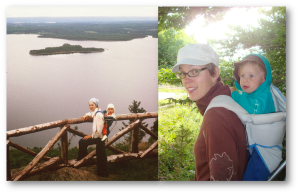 Full circle, my mother hiking with me in the 70s and me with my daughter ~30 yrs later.