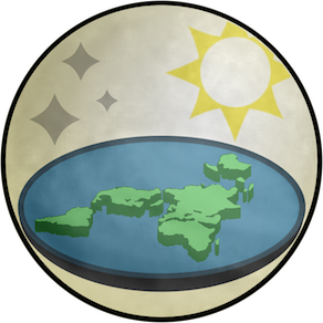 This is the logo of the Flat Earth Society.